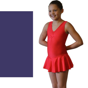 KATIE - SKIRTED LEOTARD - BOLD COLOURS Dancewear Dancers World Navy Blue 00 (Age 2-4)