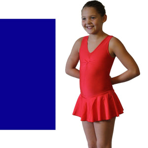 KATIE - SKIRTED LEOTARD - BOLD COLOURS Dancewear Dancers World Royal Blue 00 (Age 2-4)