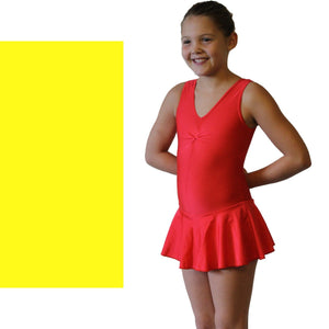 KATIE - SKIRTED LEOTARD - BOLD COLOURS Dancewear Dancers World Yellow 00 (Age 2-4)