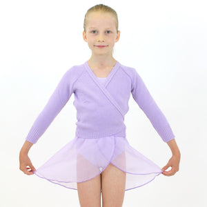 KNITTED ACRYLIC CROSSOVER BALLET / ICE SKATING CARDIGAN Knitwear Dancers World