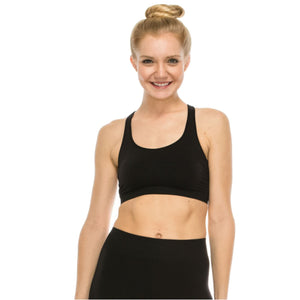 LACE UP BACK SPORTS BRA CROP TOP Dancewear Kurve