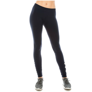 LEGGINGS WITH LOWER LEG BOW TRIM Dancewear Kurve