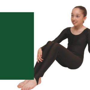 LEIGH - LONG SLEEVE CATSUIT/UNITARD - ANIMAL COLOURS Dancewear Dancers World Forest 00 (Age 2-4)