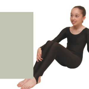 LEIGH - LONG SLEEVE CATSUIT/UNITARD - ANIMAL COLOURS Dancewear Dancers World Silver 00 (Age 2-4)