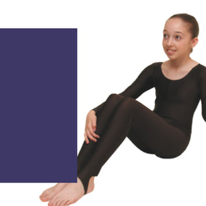 LEIGH - LONG SLEEVE CATSUIT/UNITARD Dancewear Dancers World Navy 00 (Age 2-4)