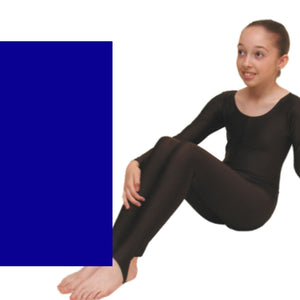 LEIGH - LONG SLEEVE CATSUIT/UNITARD Dancewear Dancers World Royal 00 (Age 2-4)