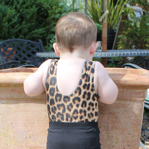 LEOPARD PRINT - BABY SIZES - PLAIN FRONT LEOTARD Dancewear Dancers World