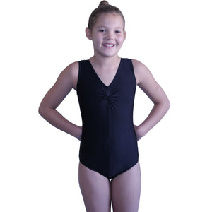 LOUISE - SLEEVELESS GATHERED FRONT LEOTARD - BOLD COLOURS Dancewear Dancers World