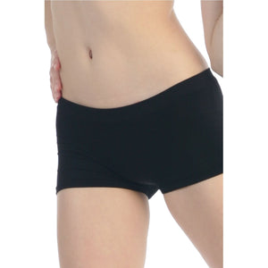 LOW RISE SEAMLESS BOY CUT MICRO SHORTS Dancewear Kurve Black One Size (Youth - Medium Adult)