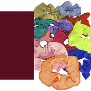 LYCRA HAIR SCRUNCHIES Accessories Dancers World Burgundy