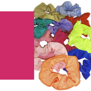 LYCRA HAIR SCRUNCHIES Accessories Dancers World Cerise