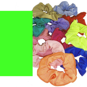 LYCRA HAIR SCRUNCHIES Accessories Dancers World Fluorescent Green
