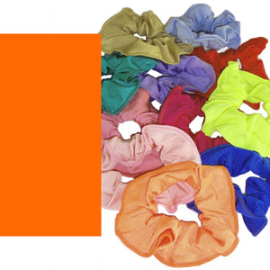 LYCRA HAIR SCRUNCHIES Accessories Dancers World Fluorescent Orange
