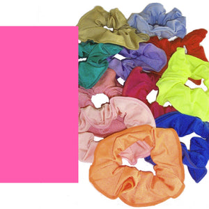 LYCRA HAIR SCRUNCHIES Accessories Dancers World Fluorescent Pink