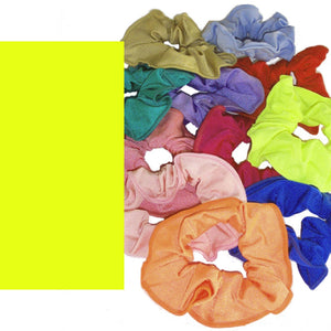 LYCRA HAIR SCRUNCHIES Accessories Dancers World Fluorescent Yellow