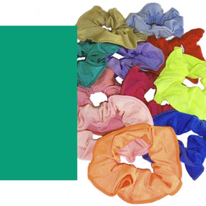 LYCRA HAIR SCRUNCHIES Accessories Dancers World Jade Green