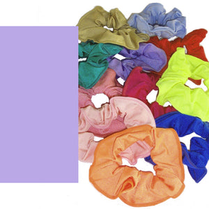 LYCRA HAIR SCRUNCHIES Accessories Dancers World Lilac
