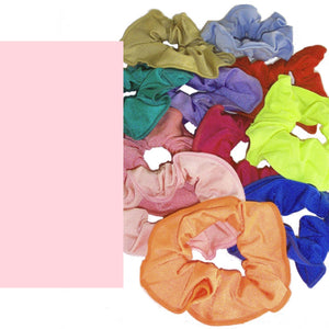 LYCRA HAIR SCRUNCHIES Accessories Dancers World Pale Pink