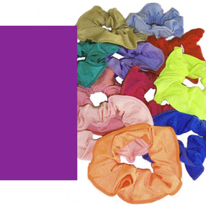 LYCRA HAIR SCRUNCHIES Accessories Dancers World Purple