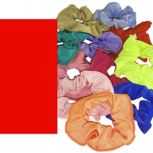 LYCRA HAIR SCRUNCHIES Accessories Dancers World Red