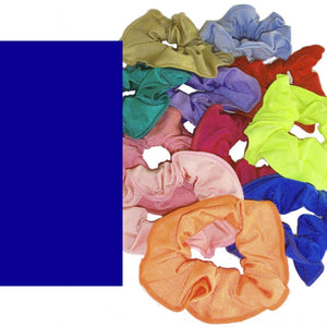 LYCRA HAIR SCRUNCHIES Accessories Dancers World Royal Blue