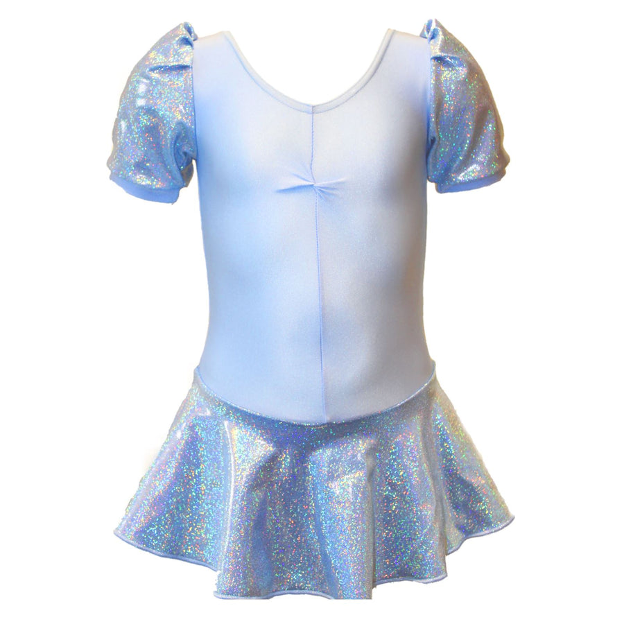 MILLIE - FROZEN HOLOGRAM SHINE PUFF SLEEVE SKIRTED LEOTARD Dancewear Dancers World