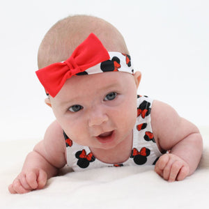 MINNIE - BABY SIZES - PRINTED FRILLED LEOTARD AND HEADBAND Dancewear Dancers World