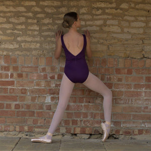 NADINE - GATHERED BACK BOAT NECK SLEEVELESS LEOTARD Dancewear Click Dancewear