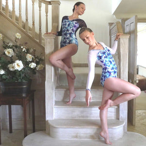 NAKITA - LONG SLEEVE LEOTARD WITH OPEN BACK Dancewear Click Dancewear