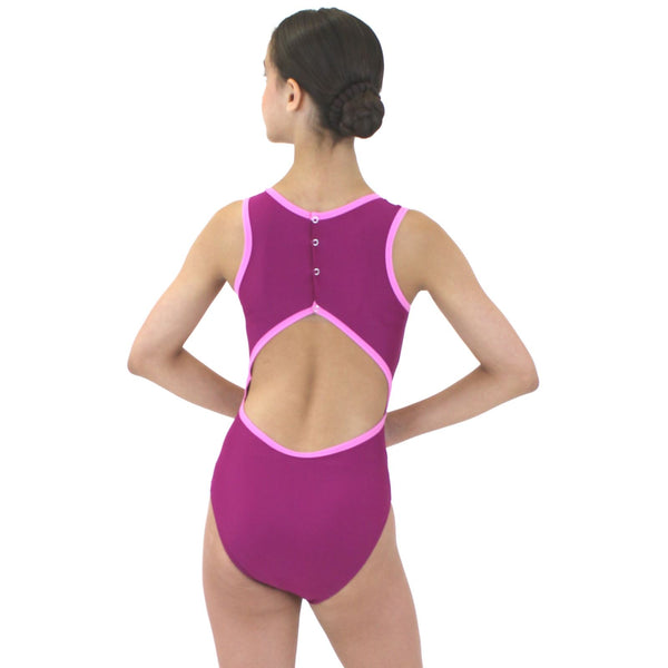 NERISSA - RECYCLED POPPER BACK LEOTARD Dancewear Click Dancewear