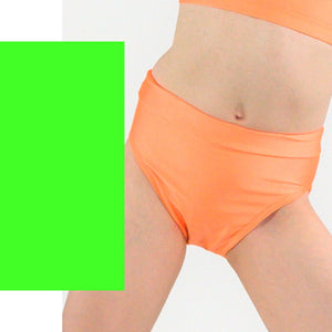 NIKKI - HIGH WAIST DANCE PANTS Children's Dancewear Click Dancewear Fluorescent Green 0 (Age 4-6)