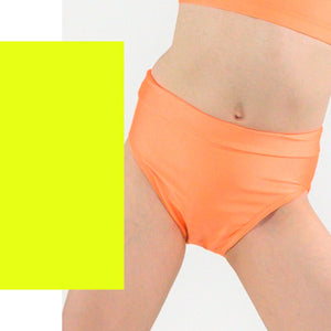 NIKKI - HIGH WAIST DANCE PANTS Children's Dancewear Click Dancewear Fluorescent Yellow 0 (Age 4-6)
