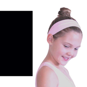 NYLON LYCRA HEADBANDS Accessories Dancers World Black Narrow 1.5""