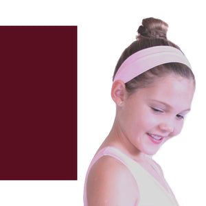 NYLON LYCRA HEADBANDS Accessories Dancers World Burgundy Narrow 1.5""
