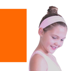 NYLON LYCRA HEADBANDS Accessories Dancers World Fluorescent Orange Narrow 1.5""