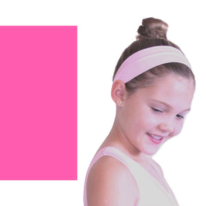NYLON LYCRA HEADBANDS Accessories Dancers World Fluorescent Pink Narrow 1.5""