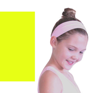 NYLON LYCRA HEADBANDS Accessories Dancers World Fluorescent Yellow Narrow 1.5""