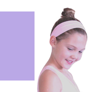 NYLON LYCRA HEADBANDS Accessories Dancers World Lilac Narrow 1.5""