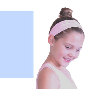 NYLON LYCRA HEADBANDS Accessories Dancers World Pale Blue Narrow 1.5""