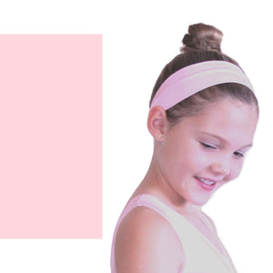 NYLON LYCRA HEADBANDS Accessories Dancers World Pale Pink Narrow 1.5""