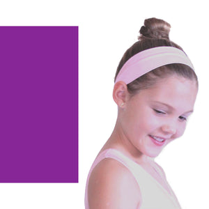 NYLON LYCRA HEADBANDS Accessories Dancers World Purple Narrow 1.5""