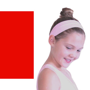 NYLON LYCRA HEADBANDS Accessories Dancers World Red Narrow 1.5""