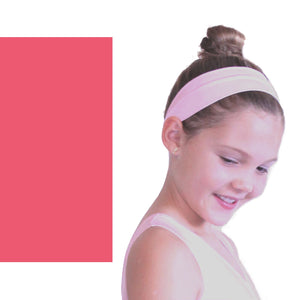 NYLON LYCRA HEADBANDS Accessories Dancers World Rose Pink Narrow 1.5""
