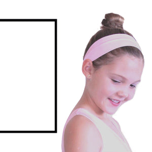 NYLON LYCRA HEADBANDS Accessories Dancers World White Narrow 1.5""