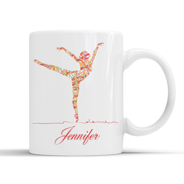RIBBON BALLERINA MUG - PERSONALISED Mug Personally Printed
