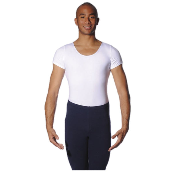 ROCH VALLEY ADAM BOYS/MENS SHORT SLEEVE COTTON LEOTARD Dancewear Roch Valley