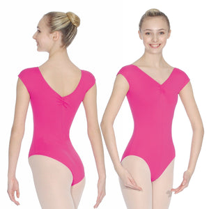 ROCH VALLEY ARIOSO CAP SLEEVE MICROFIBRE LEOTARD WITH A RUCHE FRONT & BACK Dancewear Roch Valley Mulberry 1 (Age 5-6)