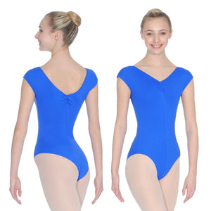 ROCH VALLEY ARIOSO CAP SLEEVE MICROFIBRE LEOTARD WITH A RUCHE FRONT & BACK Dancewear Roch Valley Royal 1 (Age 5-6)