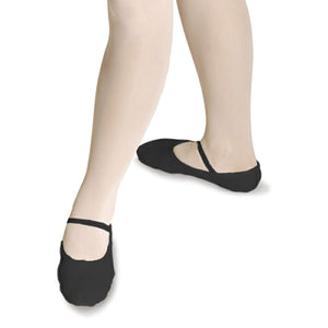 ROCH VALLEY BLACK LEATHER OPHELIA BALLET SHOES - PRE SEWN ELASTIC Dance Shoes Roch Valley