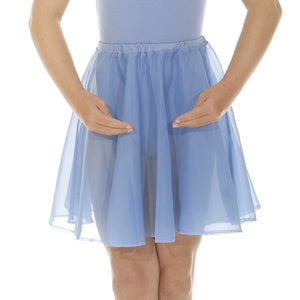 "ROCH VALLEY CIRCULAR CHIFFON SKIRT Dancewear Roch Valley Sky Blue 26"" waist"
